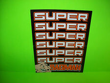 Stern SUPER BAGMAN 1984 Original Video Arcade Game Promo Sales Flyer Advertising