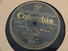 THE SUNFLOWER GIRL of WBAP World in the Palm of My Hand COLUMBIA 1107D 78 RPM V+