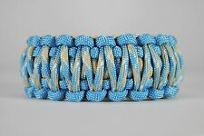 550 Paracord Survival Bracelet King Cobra Carolina Blue/Carolina Beach Camping