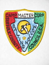 Baiting Hollow Scout Camp  Camp Master Patch  Suffolk Co Council (NY)  BSA