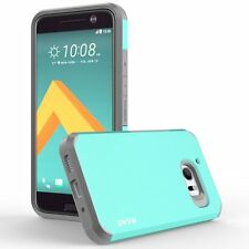 RANZ HTC 10 (One M10) Mint Impact Dual Layer Shockproof Bumper Silicone Case