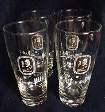 Bitburger Pils German Pilsner Beer Glass Bitburg Germany 0.2 liter Set Of 4