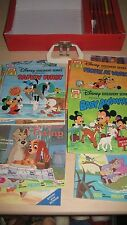 Vintage Disney Discovery Series Cassette 15 Tapes & 32 Books Set Read Along CASE