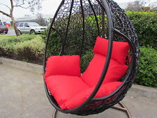 Outdoor furniture hanging rattan egg chair. Hand made