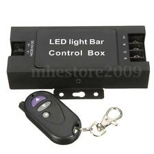 LED Light Bar Battery Box Wireless Remote Flash Strobe Controller 7 Modes 12-24V