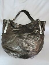 Michael Kors Metallic Silver Snakeskin Shoulder Purse
