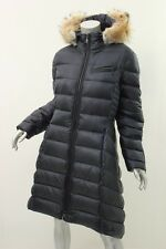 DAWN LEVY Abyss Bee Coyote Fur-Trimmed Puffer Coat L $1198