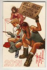 "ADAM HUGHES ""WILL RAID TOMBS 4 FOOD"" 2015 SKETCHBOOK SIGNED Auction WONDER WOMAN"