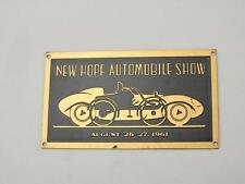 NOS 1961 New Hope PA Pennsylvania Automobile Auto Show Dash Plaque Porsche S420