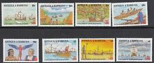 SHIPS: ANTIGUA 1988 Columbus set(1st issue) +MS(2) SG1172-9+MS1180 n.h.mint