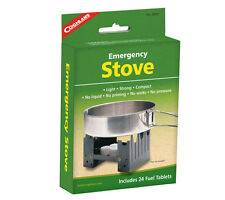 Coghlans Folding Emergency Pocket Stove and 24 Hexamine Solid Fuel Tablets
