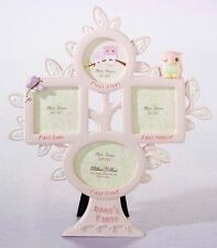 Lillian Rose Baby Girl 10″ Pink Owl First Year Photo Picture Frame 24FR211 OP