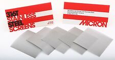 "(5 Pack) 4"" x 4"" - 120 Micron High Yield Stainless Steel Mesh 710 Screens"