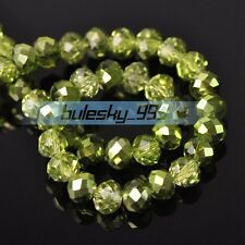Wholesale 4mm 6mm 8mm 10mm Rondelle Faceted Crystal Glass Loose Spacer Beads