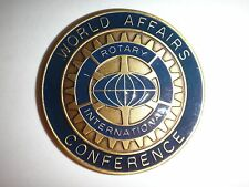 WORLD AFFAIRS CONFERENCE ROTARY INTERNATIONAL Challenge Coin