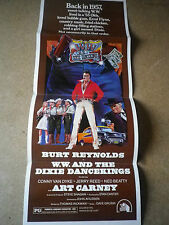"Affiche cartonnée poster cinéma 1975 ""WW and the Dixie Dancekings"" Burt Reynolds"