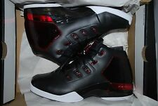 NEW IN BOX AIR JORDAN 17 + RETRO SHOES XVII  RED WHITE BLACK MEN'S SIZE 8.5