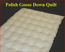 DOUBLE BED QUILT 95% POLISH GOOSE DOWN DUVET COMFORTER - 2 BLANKET SUMMER QUILT
