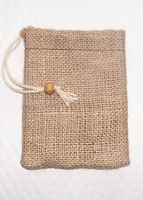 """D!E POWDER"" SMALL NATURAL JUTE DISPENSING BAG, FOR USE WITH DIATOMACEOUS EARTH"