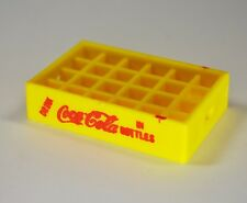 Coca-Cola Straps Crate Holder for miniature Bottles USA Mini Bottle Crate yellow
