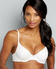 CLEARANCE!  Maidenform Comfort Devotion Demi Bra - Style 9402 White 36A
