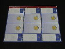 AGGIORNAMENTO ABAFIL GENERICO x 6 MONETE da 2 EURO COMMEMORATIVI 1 tasca+1pagina