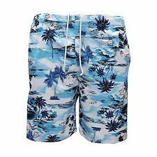Mens Elasticated Floral Beach Cargo Swim Surf Board Summer Shorts Multi Pocketed