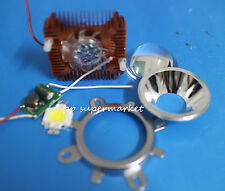 10w cold white led + 44mm Lens kit +12v 10Watt Driver + 10w Golden Heatsink DIY