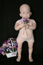 REBORN DOLL KIT TIBBY STANDING HEAD AND LEGS ONLY BODY/EYES NOT INCLUDED