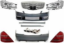 Mercedes W221 S63 S65 AMG Body Kit Bumper Tailpipes LED Taillights Headlights .
