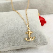 New Fashion 18K Yellow Gold Filled Jewelry Unique Womens/Mens CZ Pendant Gift