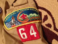 CENTRAL FLORIDA COUNCIL 64 MADE IN USA LA14-16 RGE SHORT SLEEVE BOY SCOUT SHIRT
