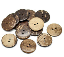 10 Real  Coconut Shell buttons 25mm Sewing, scrap book, quilting, Button art