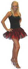 "Red Black 8"" Short Saloon Girl Burlesque Tutu/Fancy Dress UK"