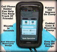 Motorcycle Handlebar Samsung HTC Cell Phone Holder Touch Screen Protective Case