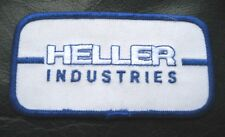 HELLER INDUSTRIES EMBROIDERED SEW ON PATCH ELECTRONIC NEW JERSEY  UNIFORM