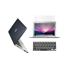 """3 in 1 Crystal  BLACK Case for Macbook PRO 13"""" + Keyboard Cover + LCD Screen"""