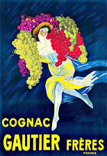 Art Cognac Gautier Frères  Drink Alcohol Drinks Pub Bar Chic Deco   Poster Print