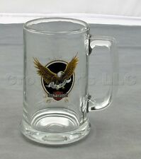 """Harley Davidson Motorcycles American Legend Eagle 5 1/2"""" Glass Beer Stein Cup"""