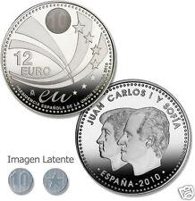 manueduc   12 EUROS ESPAÑA 2010 PRESIDENCIA DE EUROPA 18,2 Gr Plata 925 mm