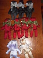 JESSICA McCLINTOCK lot of 9 Keepsake BEAR,CAT,RABBIT Spring/Fall 2000-beenie