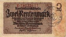 Ro.167d 2 Rentenmark 1937 belgischer Gemeindestempel (3)