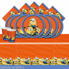 Despicable Me Minions Children's Birthday Complete Party Tableware Pack For 16