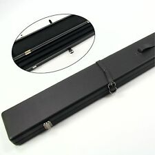 ALL BLACK Luxury Hard Case for Pool Snooker Cue - HOLDS 2 3/4 JOINT CUES