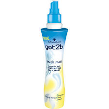 3X Schwarzkopf got2b Beach Matt Mermaid Look Texturising SALT SPRAY 200ml