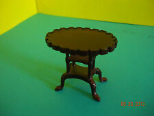 "DOLLHOUSE MINI 1"" SCALE  BESPAQ LIVING ROOM END TABLE IN MAHOGANY"