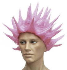Neon Pink Spikey Wig Nu Rave Spiked Festival Techno Fancy Dress