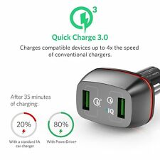 [Qualcomm Certified]Anker Quick Charge 3.0 42W 2-Port USB Car Charger