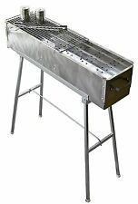 """32"""" Stainless Steel Shish Kebab Grill with Stand charcoal"""