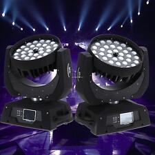 2x LED EFFETTO LUCE CAMBIACOLORE TESTA MOBILE STROBE 36 x 10W DMX DJ PARTY
